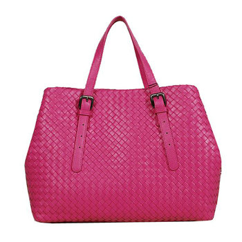 Bottega Veneta intrecciato nappa note bag bv1026 rosered
